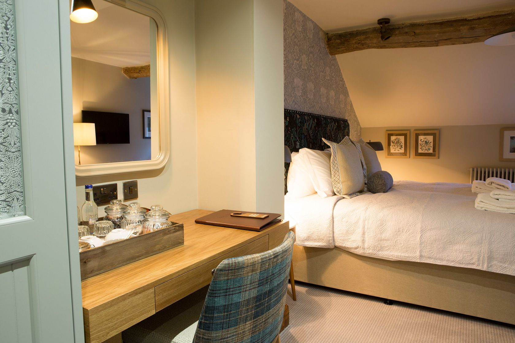 Great amenities and extra room to spread out in our premium bedrooms at the Legh Arms