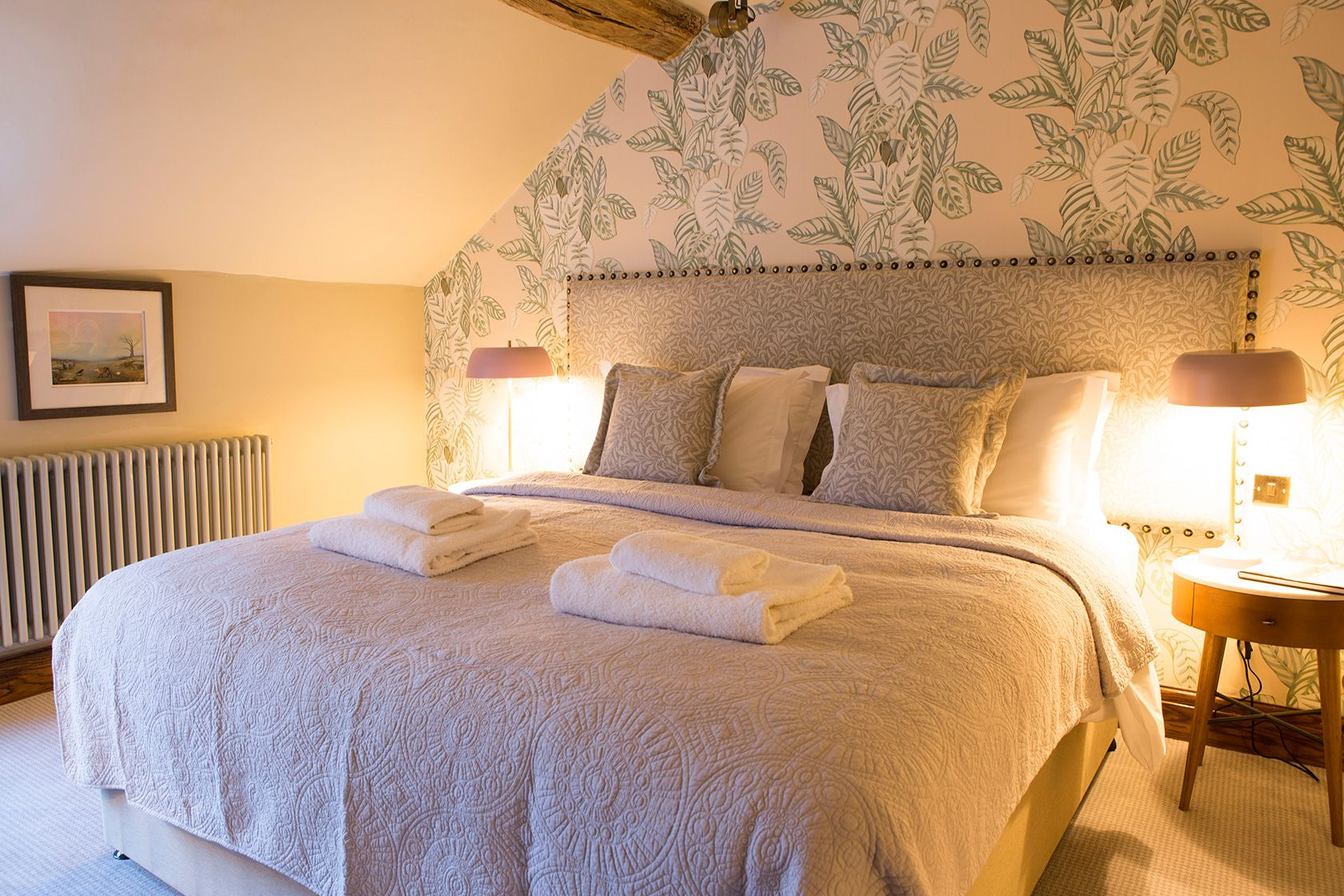 Inside one of the Legh Arms' new premium bedrooms close to Macclesfield