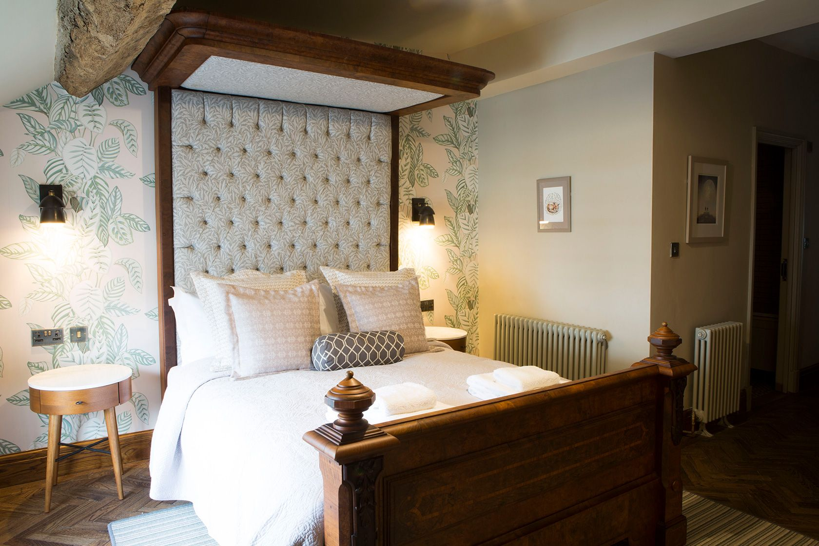 A premium hotel bedroom at the Legh Arms close to Alderley Edge