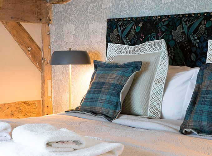 A shot of one of the bedrooms at the Legh Arms near Alderley Edge